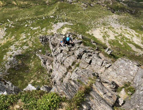 Up the slabs and onto Cneifion Arete