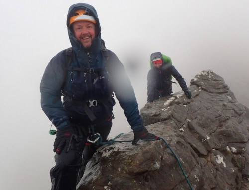 Traversing Liathach in the Rain