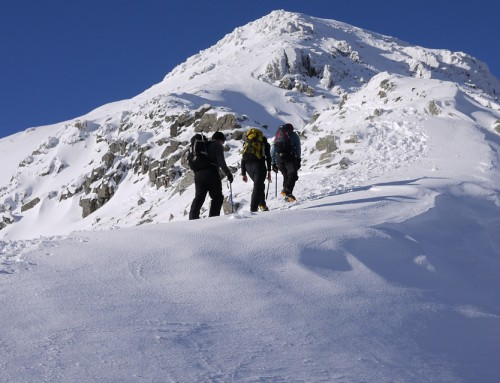 Choosing an axe and crampons for winter walking